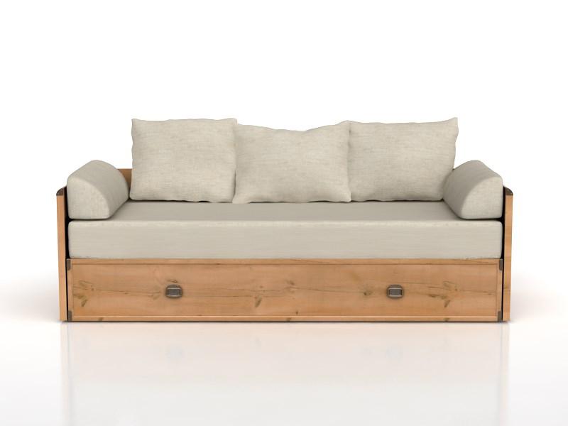 Rozkládací postel 80 až 160 cm - BRW - INDIANA - JLOZ 80/160 (Borovice antická)